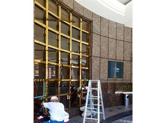 某酒店落地窗矽利康補強工程