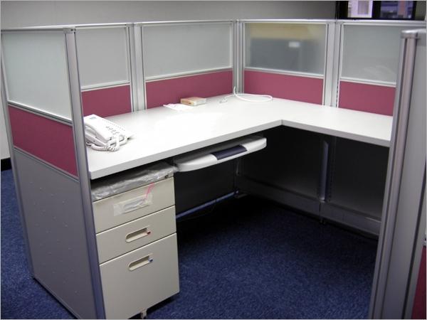 辦公家具/薄屏風桌