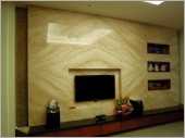 1-帝諾電視牆面、台中大理石電視牆面