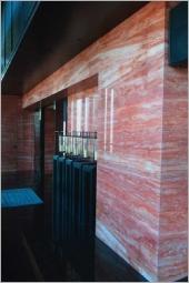 2-紅洞石牆面、台中大理石電視牆面
