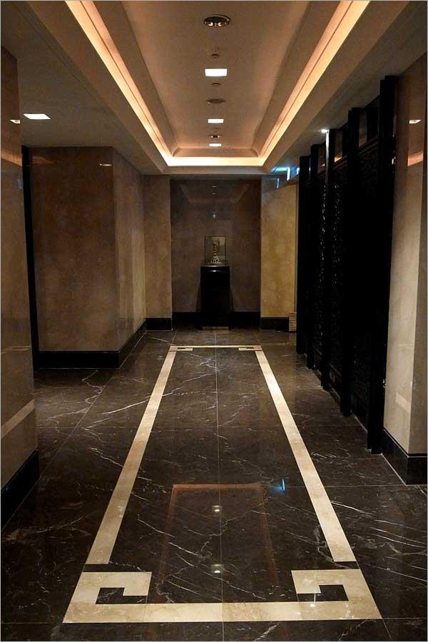 3-黑橄欖梯廳地坪、台中大理石地坪