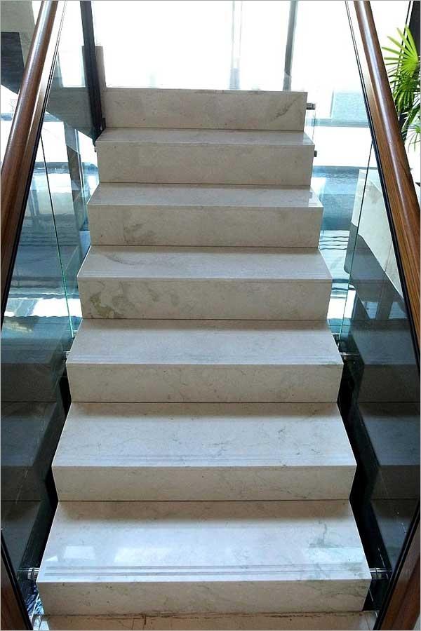 雕刻米黃樓梯、大理石樓梯
