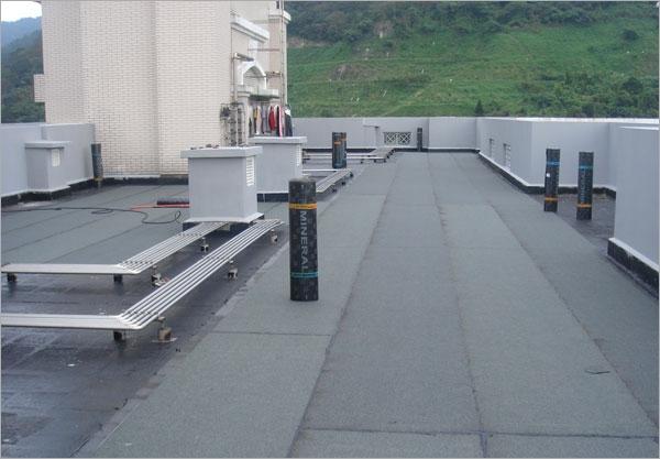 屋頂防水毯-施作中