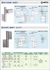 NITTO NK153S玻璃門用,244S不銹鋼門,鐵門,防火門用自動歸位鉸鏈