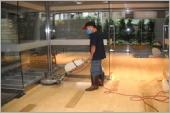 石材地板打蠟維護