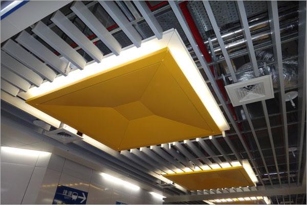 鋁障板間接照明天花板