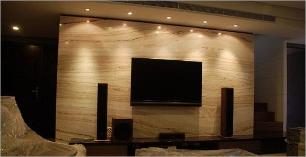 金貝沙石電視背牆