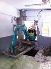 挖土機.怪手出租-地基開挖結構補強工程