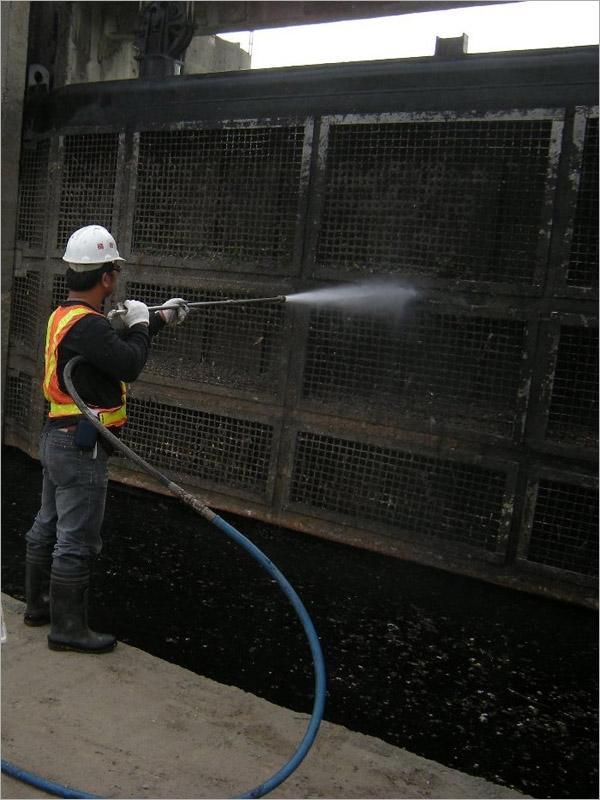 高壓水清洗截流站