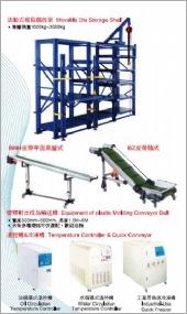 活動模具儲放架/塑膠射出成品輸送機/油循環溫空機/水循環溫空機/工業用急速冷凍機/