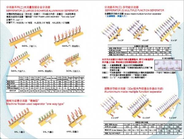 大流量型鋁合金分流器/機械冷卻用分流器(單向型)/全銅製分流器/鋁製分流器