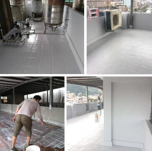 屋頂面裂縫處補強處理