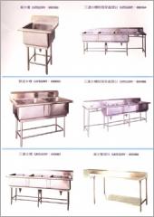 單水槽.殘菜處理台