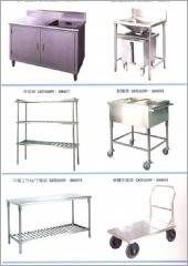 配膳車.殘菜處理槽車.工作櫥台