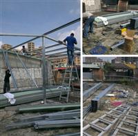 頂樓加蓋鐵皮屋施工-30坪