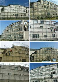鋼構別墅搭建~牆壁漏水~橫式板~富貴磚~30坪