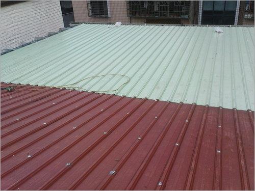 鐵皮屋烤漆鋼板施工