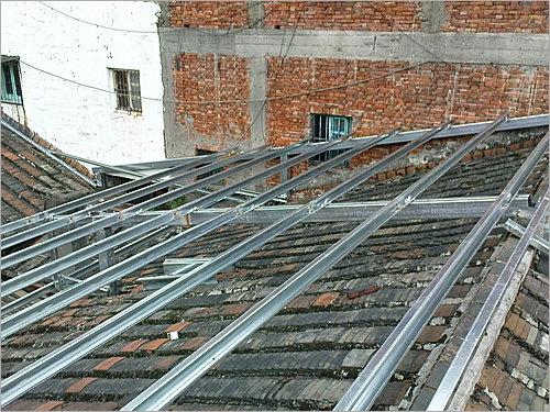 老舊屋頂漏水-加蓋鐵皮屋防水隔熱