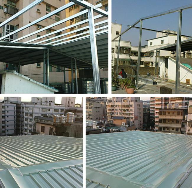 鐵皮屋頂增建~32坪