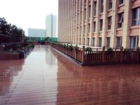 塑膠仿木大樓景觀步道