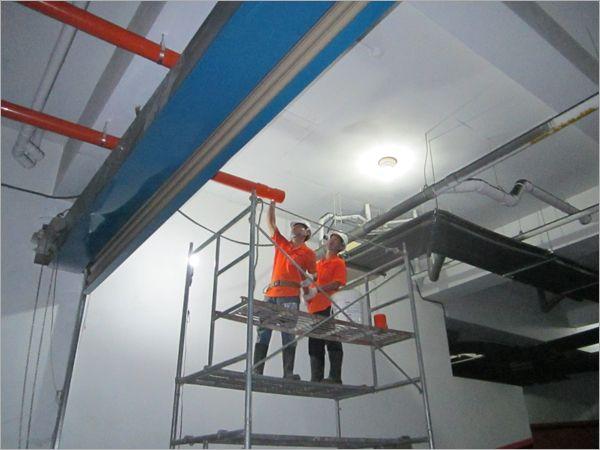 衛生下水道地下室配管工程