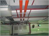 衛生下水道地下室橘色塑膠管工程