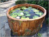 19.水泥仿木景觀水池
