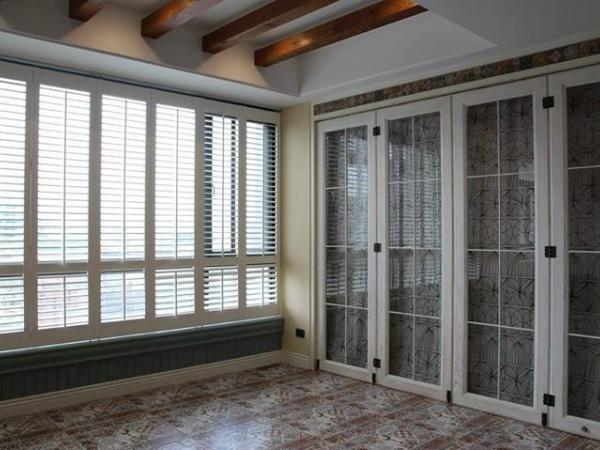 美式自然風格設計_玻璃木門