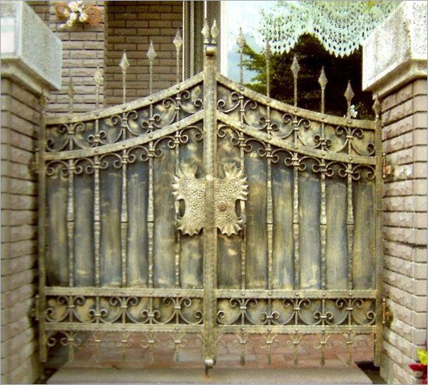 鍛造庭院雙開門