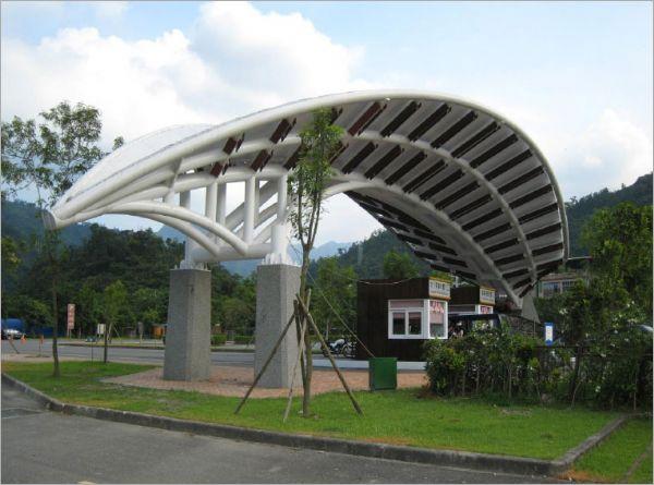 3D造型圓鋼管膜結構、鋼骨結構加工