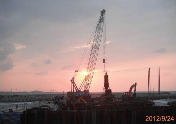 海上構台基樁施工