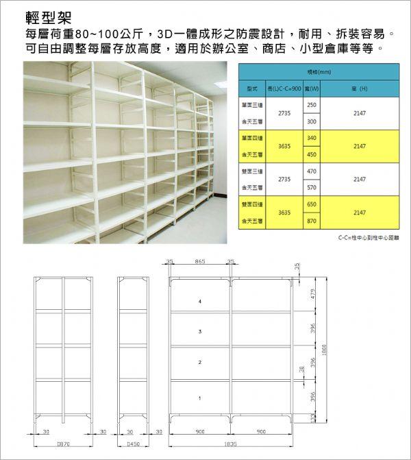 輕型架儲物架、輕型物料架、輕型架櫥物架02-2701-3938
