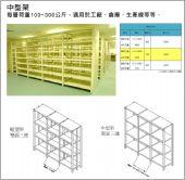 中型架儲物架、中型物料架、中型架櫥物架02-2701-3938