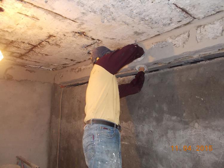 天花板樹脂砂漿補強工程