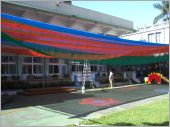 彩色遮陽網工程