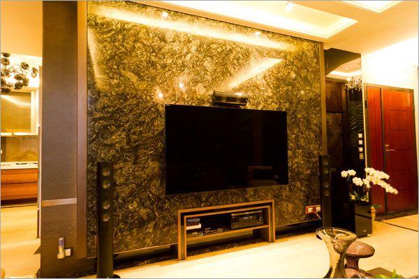 鈦晶石電視牆