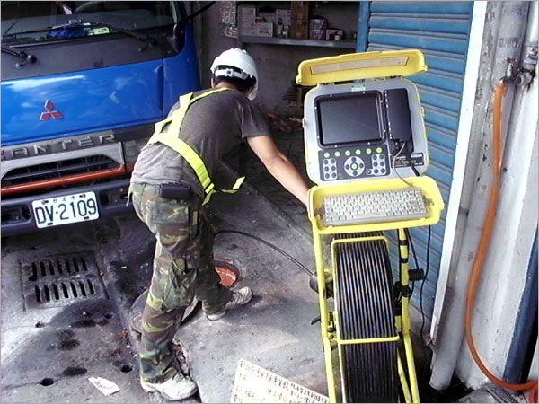 下水道TV檢視施工