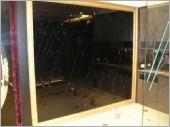 客廳黑鏡菱形貼玻璃