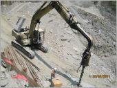三地門鋼軌樁引孔