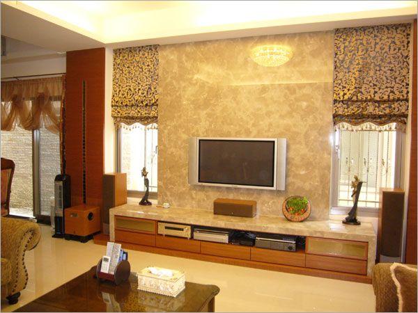 客廳電視櫃_現代古典風