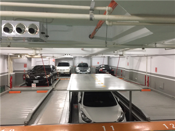 雙層油壓三重列停車設備FD-12DL