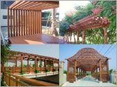 木作花架迴廊