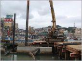 基隆海洋廣場外施工構台搭設