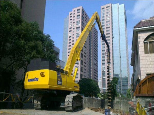 淡水區道路拓寬工程-基樁鑽掘