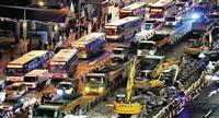 忠孝西路公車專用道拆除工程