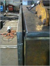 鋼箱板材倒角