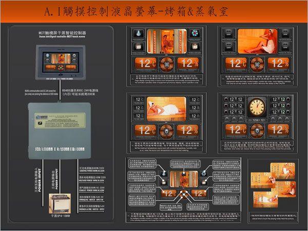 烤箱/蒸氣室觸控螢幕