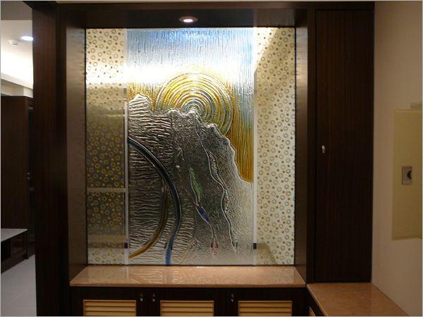 玄关玻璃屏风 - 精瑑装潢工程行
