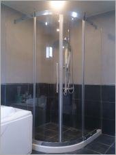 衛浴空間設計(無框 圓弧型 施工後)-8