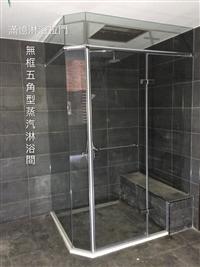 衛浴空間設計(無框 五角型推拉)-16